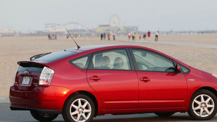 2008 Toyota Prius Touring Edition In Red Side Pose